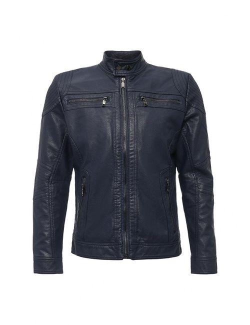 Bata | Мужская Синяя Куртка Кожаная