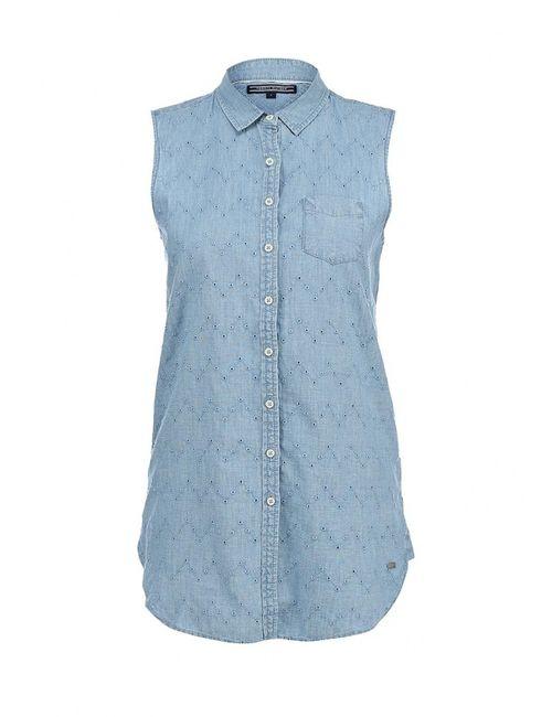 Tommy Hilfiger | Женская Синяя Рубашка Джинсовая