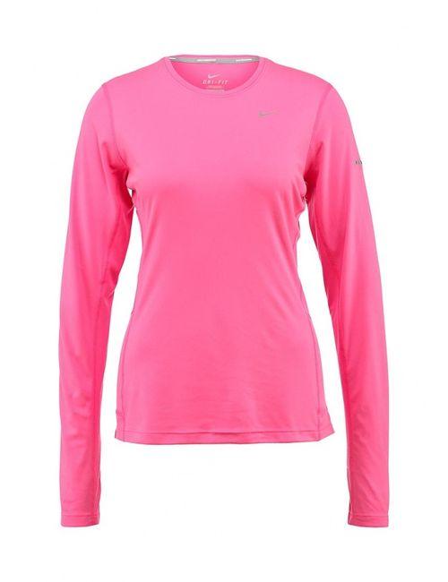 Nike | Женский Розовый Лонгслив Спортивный