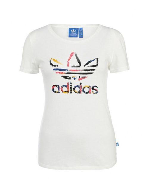 adidas Originals | Женская Белая Футболка