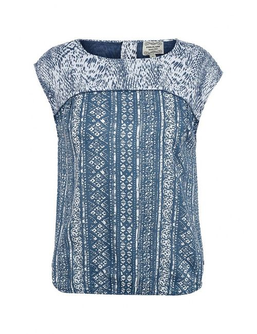 Finn Flare | Женская Синяя Блуза