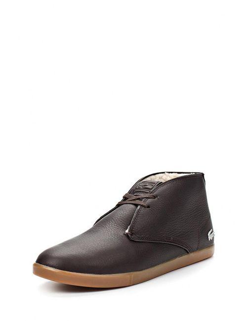 Lacoste | Мужские Коричневые Ботинки