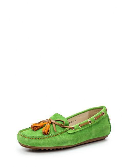 Evita | Женские Зелёные Мокасины