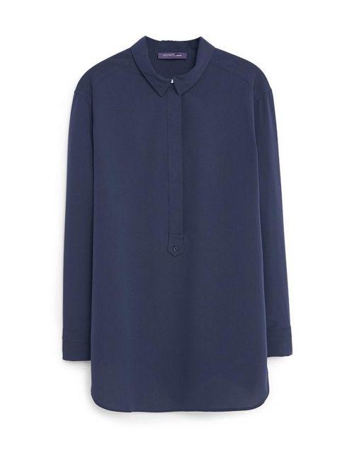 Violeta by Mango | Женская Синяя Блуза