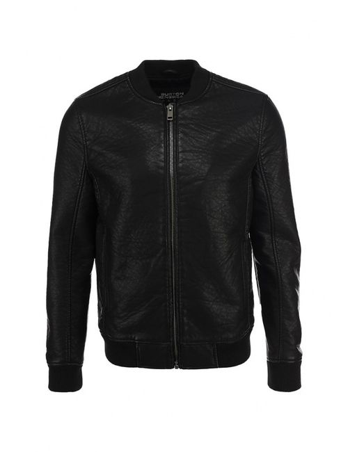 Burton Menswear London | Мужская Чёрная Куртка Кожаная