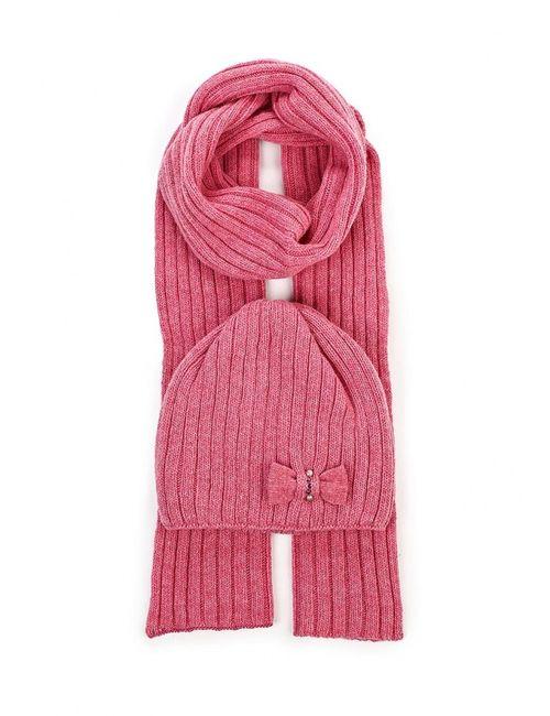 Ferz | Женский Розовый Комплект Шапка И Шарф