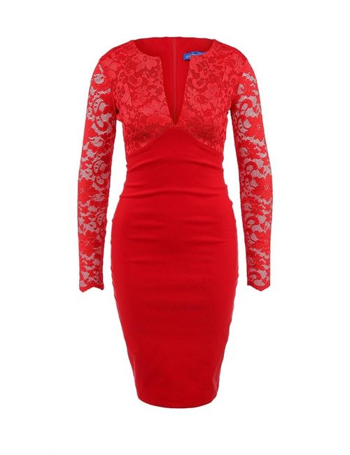 Goddiva | Женское Красное Платье