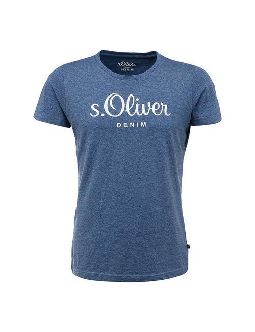 s.Oliver Denim | Мужская Синяя Футболка