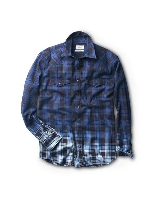 Mango Man | Мужская Синяя Рубашка