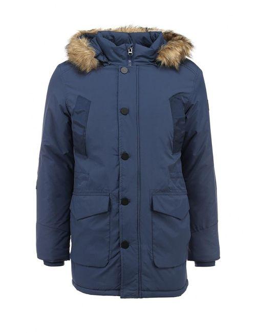 Deblasio | Мужская Синяя Куртка Утепленная
