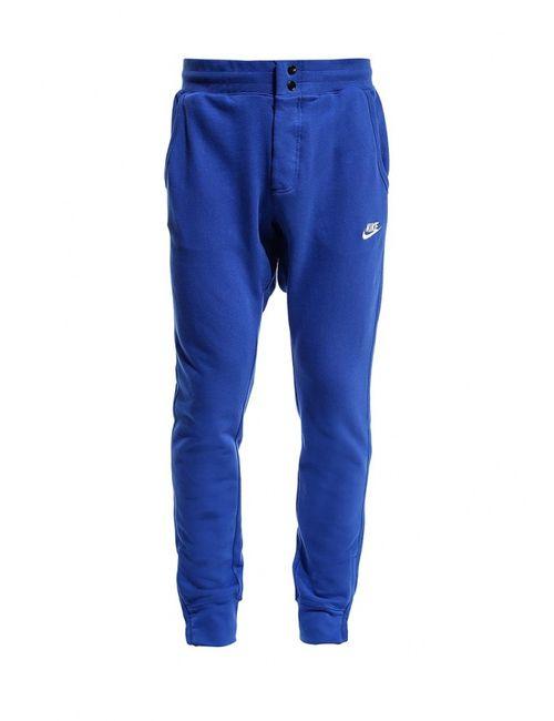 Nike   Мужские Синие Брюки Спортивные