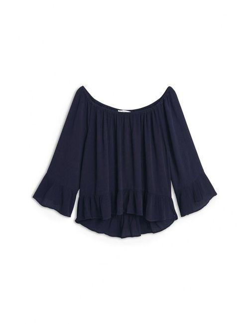 Mango | Женская Синяя Блуза