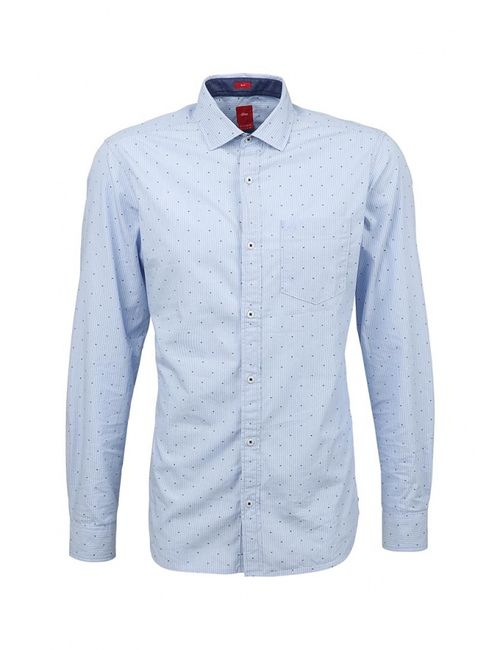 s.Oliver | Мужская Голуба Рубашка