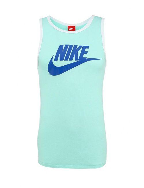 Nike | Мужская Зелёная Майка