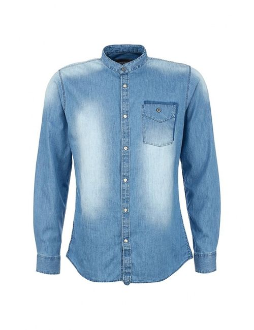 Springfield | Мужская Синяя Рубашка Джинсовая