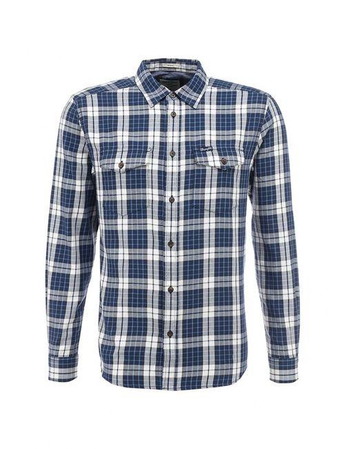 Wrangler | Мужская Синяя Рубашка