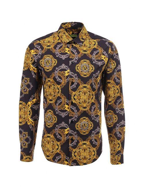 Versace Jeans | Мужская Жёлтая Рубашка