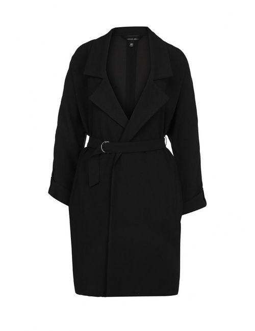 Topshop | Женское Чёрное Пальто