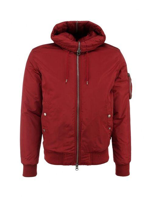 Topman | Мужская Красная Куртка Утепленная