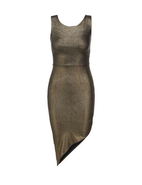 Edge Clothing | Женское Золотое Платье