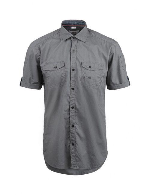 s.Oliver | Мужская Серая Рубашка