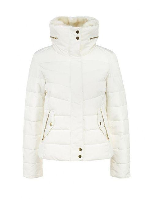 Jennyfer | Женская Белая Куртка Утепленная