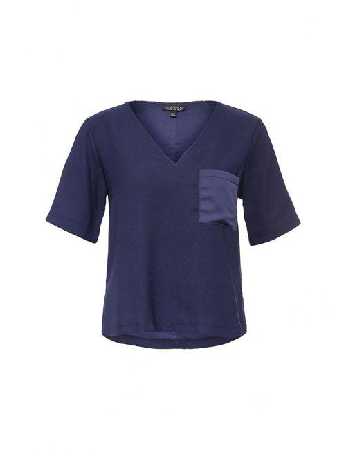 Topshop   Женская Синяя Блуза