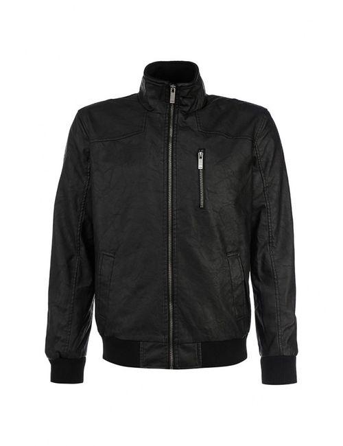 Troll | Мужская Чёрная Куртка Кожаная