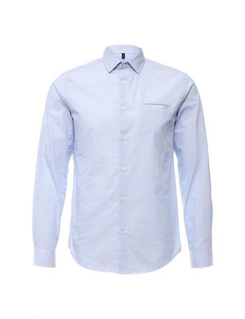 Benetton | Мужская Голуба Рубашка