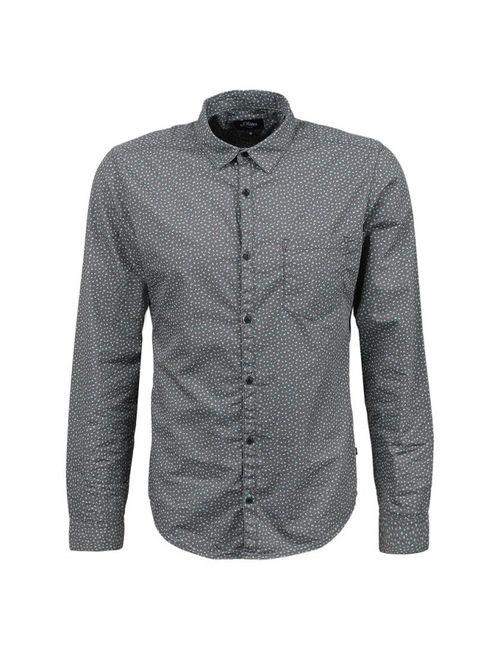 s.Oliver Denim | Мужская Серая Рубашка