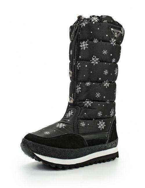 King Boots | Женские Чёрные Дутики