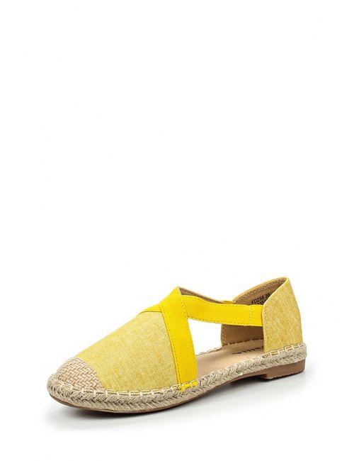 Catisa | Женские Жёлтые Эспадрильи