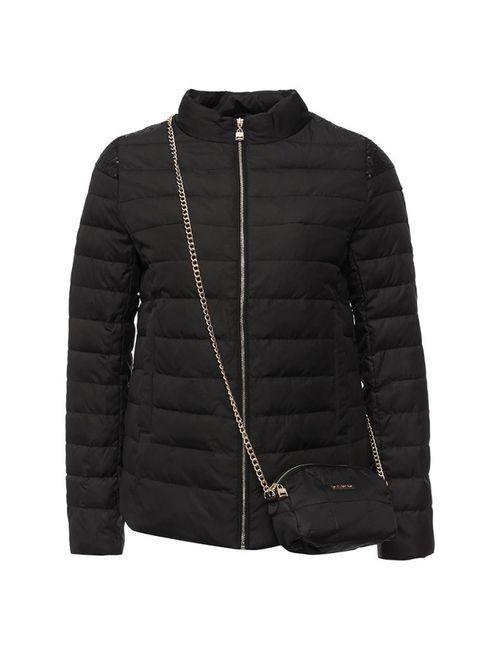 Clasna | Женская Чёрная Куртка Утепленная