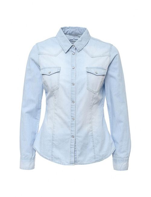 Jennyfer | Женская Голуба Рубашка Джинсовая