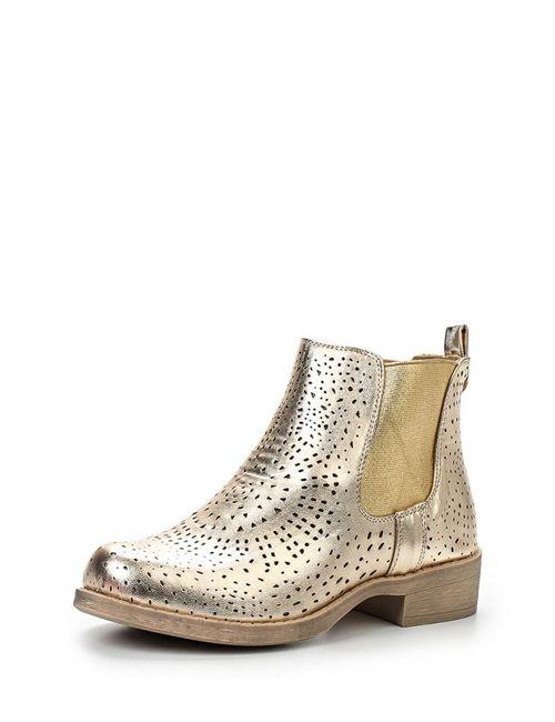 Fersini | Женские Золотые Ботинки