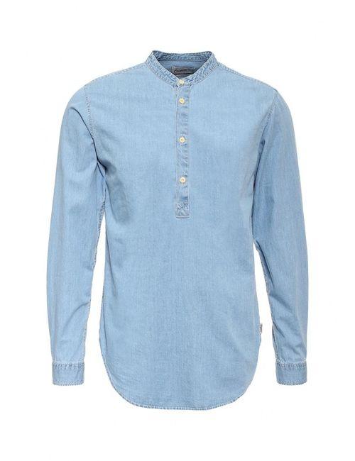 Jack & Jones | Мужская Голуба Рубашка Джинсовая Jack Amp Jones