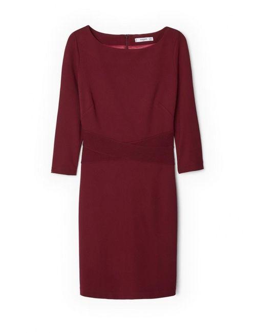 Mango | Женское Красное Платье