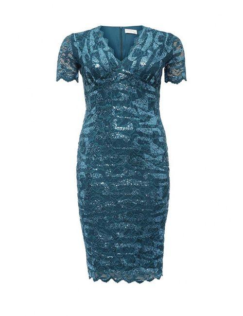 Goddiva Size Plus | Женское Синее Платье