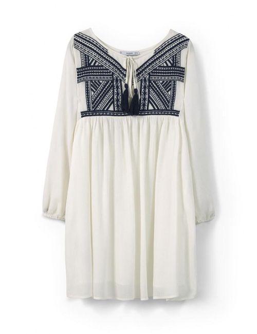 Mango | Женское Белое Платье