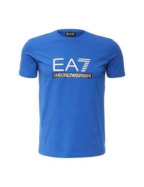 EA7 | Мужская Синяя Футболка