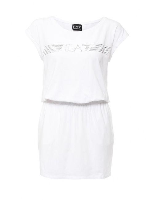 EA7 | Женское Белое Платье Пляжное
