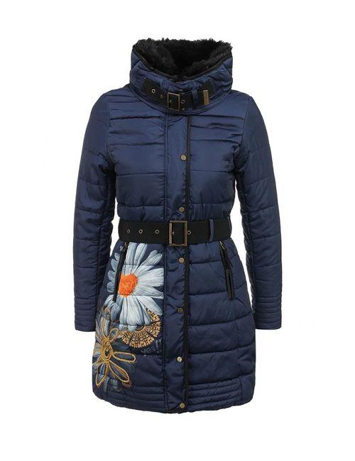 Desigual   Женская Синяя Куртка Утепленная