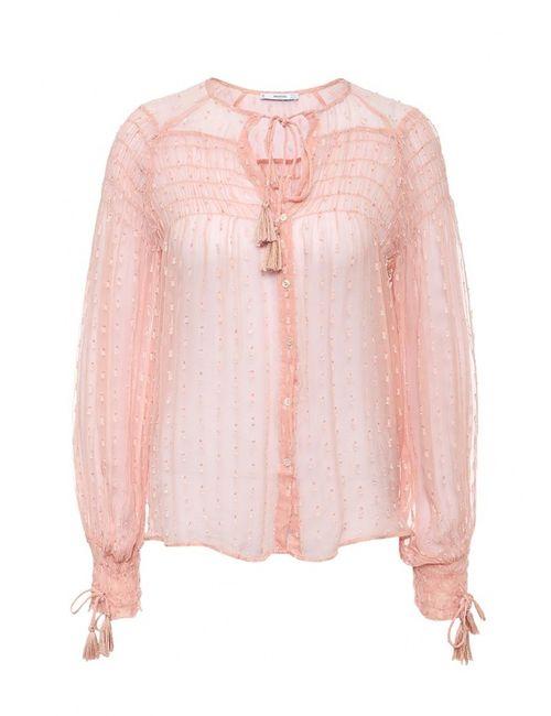 Mango | Женская Розовая Блуза
