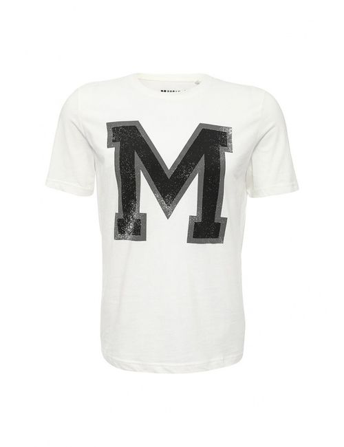 Mustang | Мужская Белая Футболка
