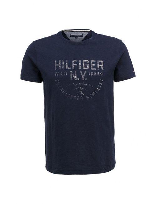 Tommy Hilfiger | Мужская Синяя Футболка