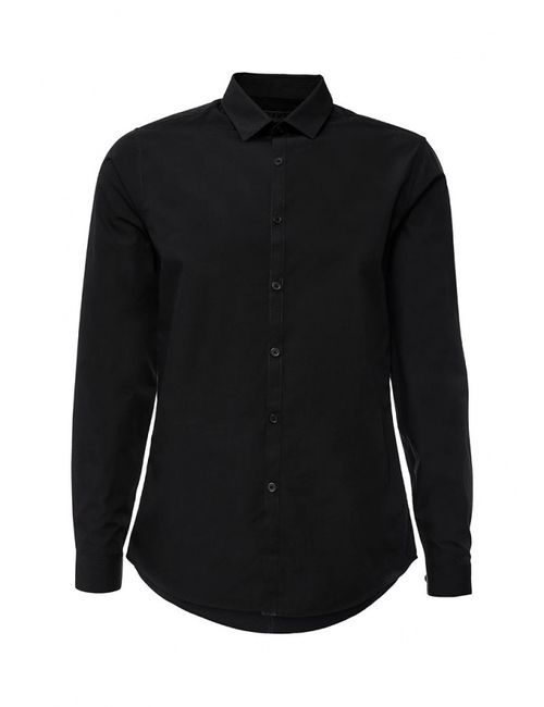 Topman   Мужская Чёрная Рубашка