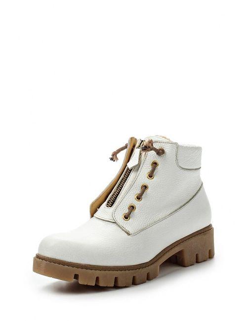 Grand Style | Женские Белые Ботинки