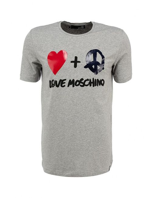 Love Moschino | Мужская Серая Футболка