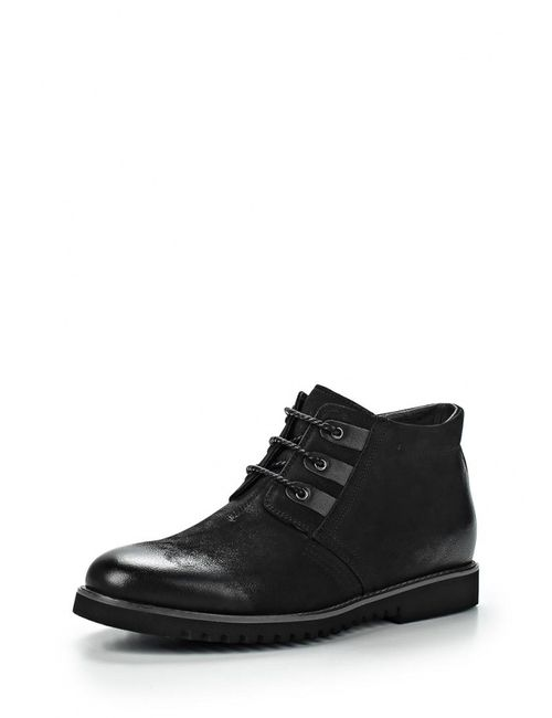 Paolo Conte | Мужские Чёрные Ботинки