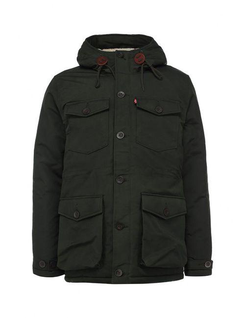 Levi's® | Мужская Зелёная Куртка Утепленная